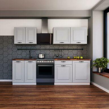 Zestaw mebli kuchennych Gaja New 6 el. 200 cm kolor szary