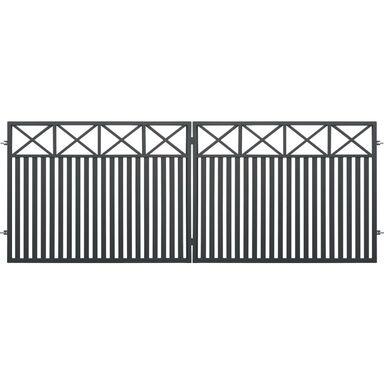 Brama dwuskrzydłowa BOSTON 400 x 150 cm POLBRAM
