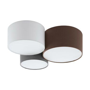 Lampa sufitowa PASTORE biało-szaro-brązowa 3 x E27 EGLO