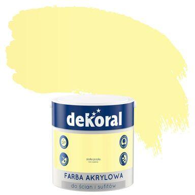 Farba wewnętrzna do ścian i sufitów KOLORY, KTÓRE INSPIRUJĄ 2.5 l Słodka gruszka DEKORAL