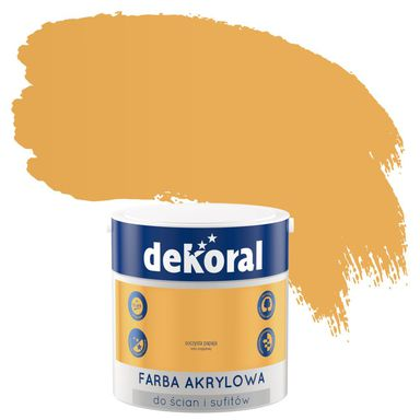 Farba wewnętrzna do ścian i sufitów KOLORY, KTÓRE INSPIRUJĄ 2.5 l Soczysta papaja DEKORAL