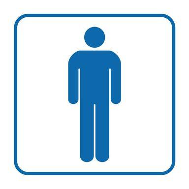 Znak informacyjny WC MĘSKIE 14.8 x 14.8 cm