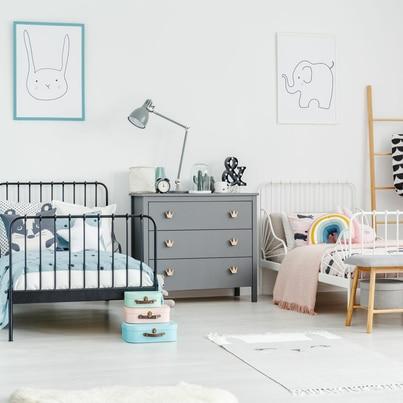 Pokój w pastelach dla rodzeństwa
