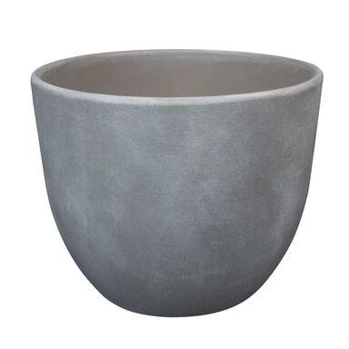 Doniczka ceramiczna 13 cm szara BARYŁKA