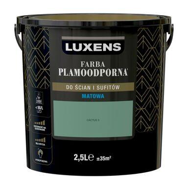 Farba wewnętrzna PLAMOODPORNA 2.5 l Cactus 3 LUXENS