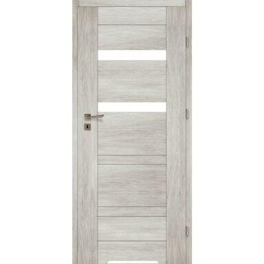 Skrzydło drzwiowe z podcięciem wentylacyjnym PARMA Dąb silver 80 Prawe VOSTER