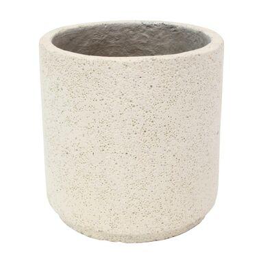 Doniczka betonowa 47 cm biała MBS CYLINDER CERMAX