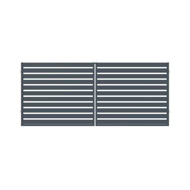 Brama dwuskrzydłowa SZAFIR 350 x 150 cm POLARGOS