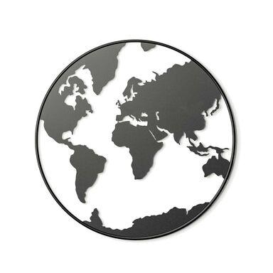Metalowa dekoracja ścienna Świat śr. 55 cm