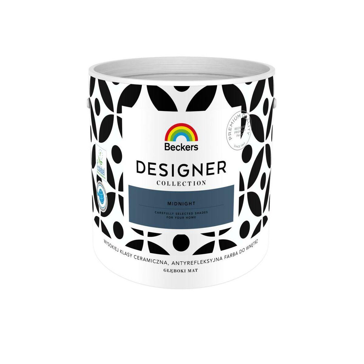 Farba Wewnetrzna Designer Collection 2 5 L Midnight Beckers Farby Scienne Kolorowe W Atrakcyjnej Cenie W Sklepach Leroy Merlin