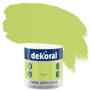 Farba wewnętrzna do ścian i sufitów KOLORY, KTÓRE INSPIRUJĄ 2.5 l Zroszona trawa DEKORAL