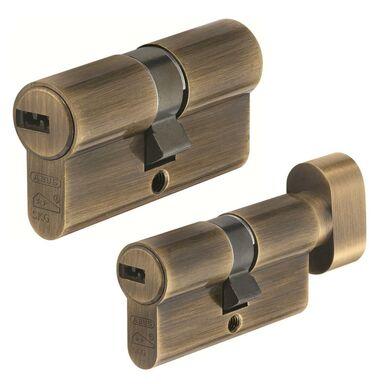 Zestaw wkładek drzwiowych na jeden klucz D10+KD10 AB 30/30G 30 x 30mm ABUS