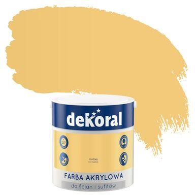 Farba wewnętrzna do ścian i sufitów KOLORY, KTÓRE INSPIRUJĄ 2.5 l Miodowy DEKORAL