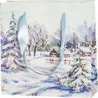 Torebka na prezenty WINTER VILLAGE 6 x 17 cm
