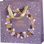 Torebka na prezenty WREATH FOR CHRISTMAS 6 x 17 cm