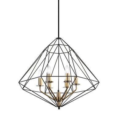 Lampa wisząca Maresmo czarna 6 x E14 Italux