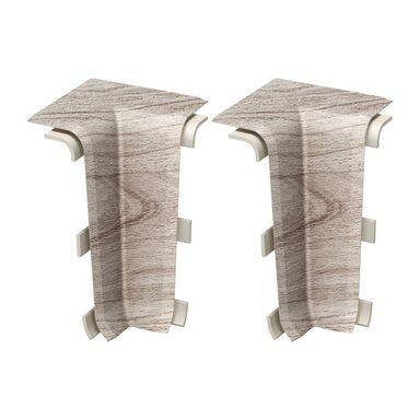 Narożnik wewnętrzny do listwy przypodłogowej Esquero Duo Palisander Bielony 2 sztuki Vox