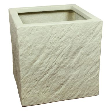 Doniczka betonowa 37 x 37 cm biała MPSS KWADRAT CERMAX