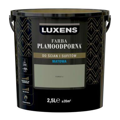 Farba wewnętrzna PLAMOODPORNA 2.5 l Forest 3 LUXENS