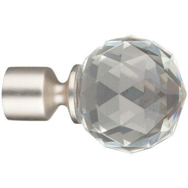 Końcówka do karnisza Crystal chrom mat 19 mm Inspire