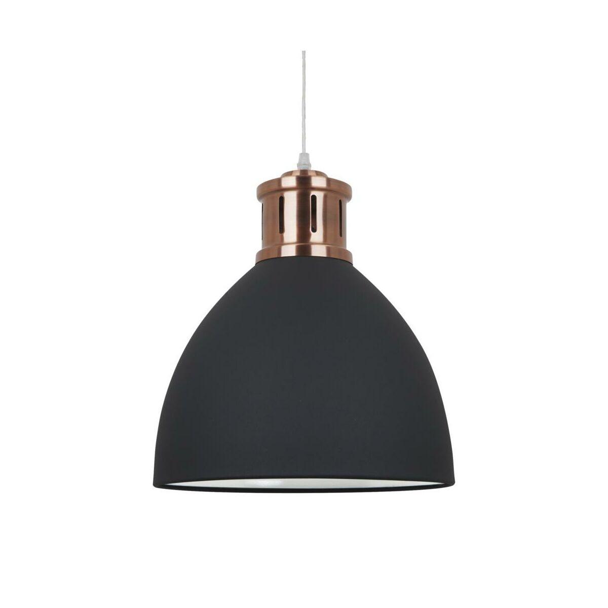 Lampa wisząca LOLA czarno miedziana E27 ITALUX
