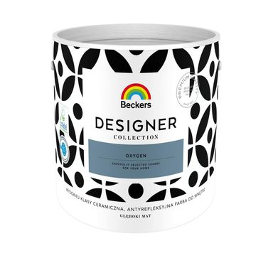 Farba wewnętrzna DESIGNER COLLECTION 2.5 l Oxygen BECKERS