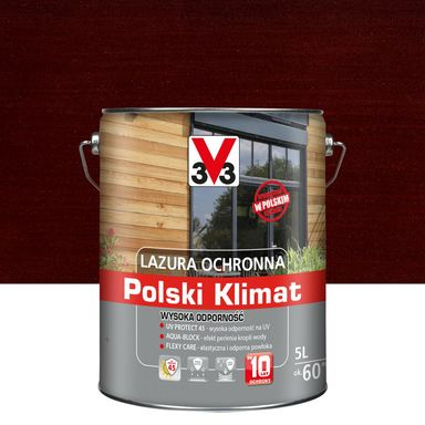 Lazura do drewna Polski klimat 5 l Mahoń V33