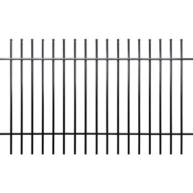 Przęsło ogrodzeniowe MILOS 200 x 120 cm POLBRAM czarne