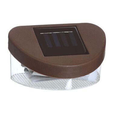 Lampa solarnana płot IP44 brązowa JUMI