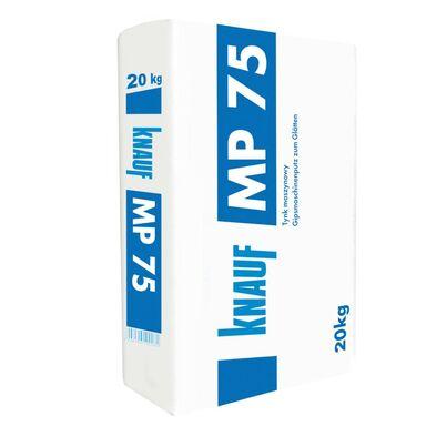Tynk GIPSOWY MASZYNOWY MP75 Biały 20 kg KNAUF