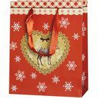 Torebka na prezenty LOVING CHRISTMAS 10 x 25 cm