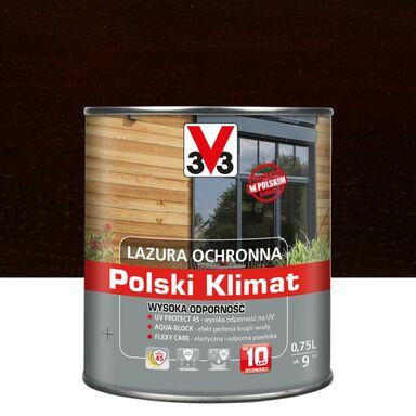 Lazura do drewna Polski klimat 0.75 l Ciemny orzech V33