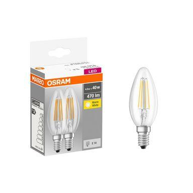 Żarówka LED E14 2 szt. (230 V) 4W 470 lm Ciepła biel OSRAM