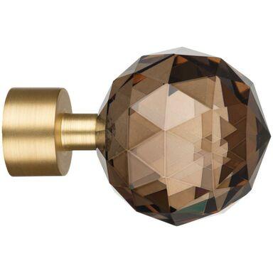 Końcówka do karnisza Crystal mosiądz mat 19 mm Inspire