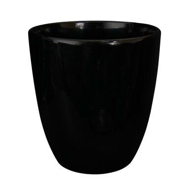 Doniczka ceramiczna 16 cm czarna NOVA 2 J1400 EKO-CERAMIKA