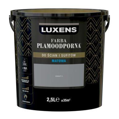Farba wewnętrzna PLAMOODPORNA 2.5 l Granit 3 LUXENS