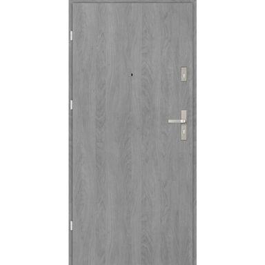 Drzwi zewnętrzne drewniane CASTELLO Grafit 90 Lewe EVOLUTION