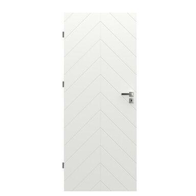Skrzydło drzwiowe pełne Trim J Białe 90 Lewe Porta