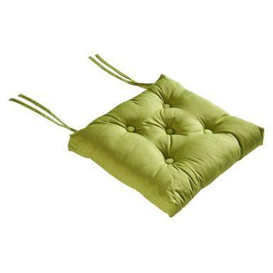 Poduszka na krzesło Elema zielona 40 x 40 x 8 cm Inspire