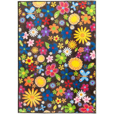 Dywan FLOWERS różnokolorowy 80 x 120 cm wys. runa 5 mm MULTI-DECOR