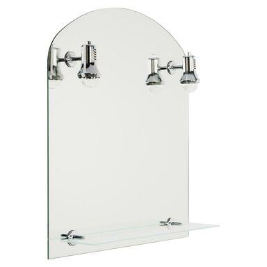 Lustro łazienkowe z oświetleniem kinkietowym ASTER 60 x 65 DUBIEL VITRUM