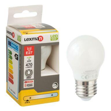 Żarówka LED E27 (230 V) 4,5 W 470 lm Ciepła biel LEXMAN