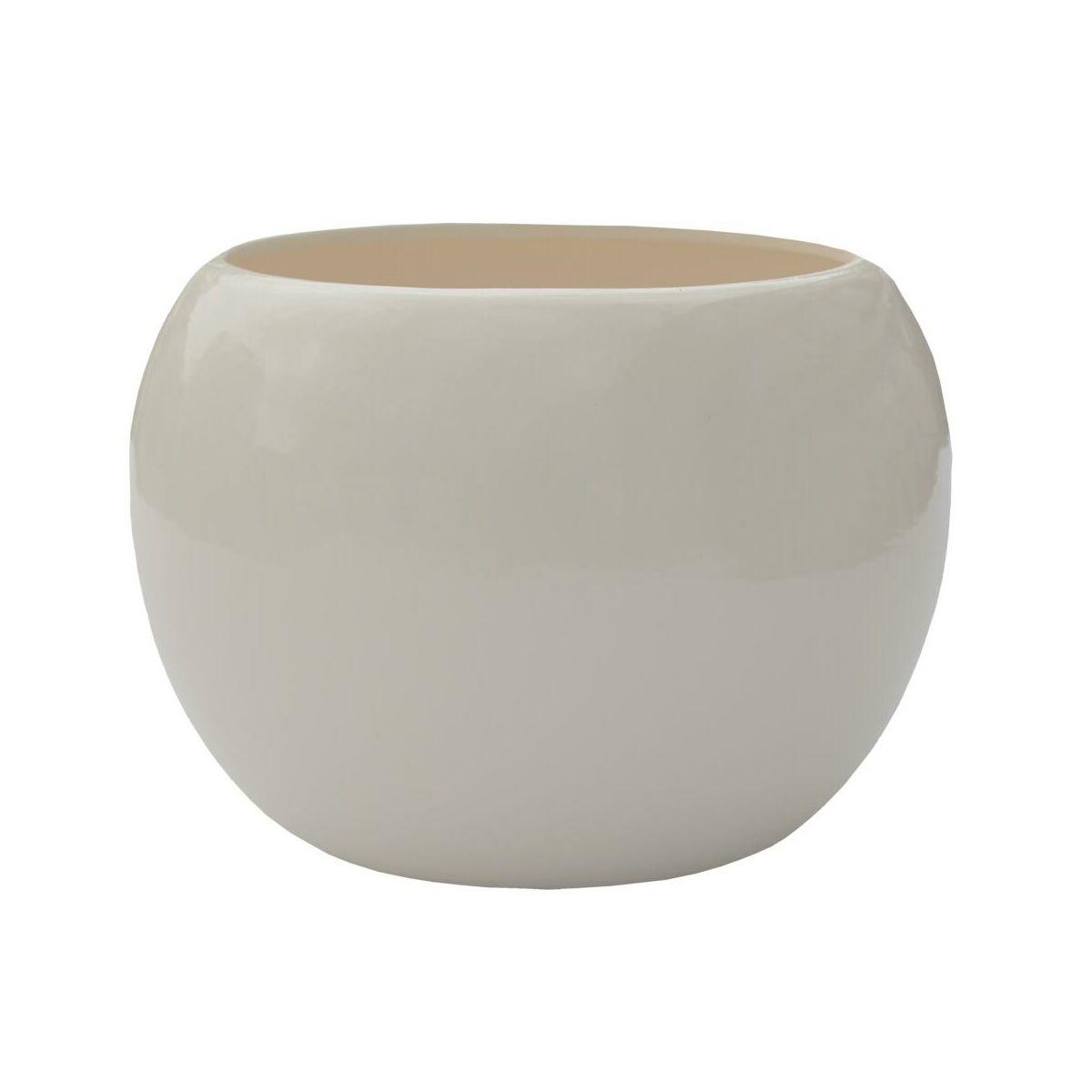 Doniczka Ceramiczna 11 Cm Ecru Kula 2 J1000 Eko Ceramika