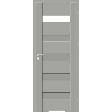 Skrzydło drzwiowe z podcięciem wentylacyjnym Pasto Szary mat 70 Prawe Artens