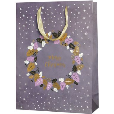 Torebka na prezenty WREATH FOR CHRISTMAS 12 x 41 cm