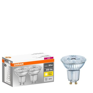 Żarówka LED GU10 2 szt. (230V) 4,5W 250 lm Ciepła biel OSRAM