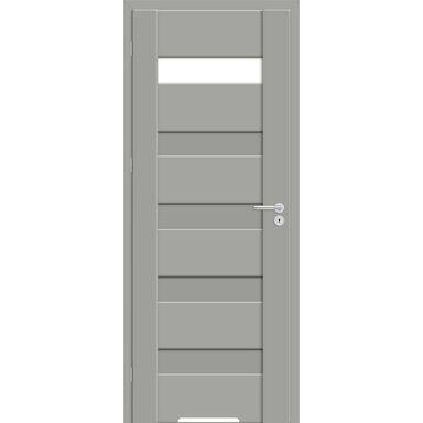 Skrzydło drzwiowe z podcięciem wentylacyjnym Pasto Szary mat 90 Lewe Artens