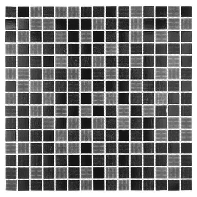 Mozaika POOL MIX BLACK 32.7 X 32.7