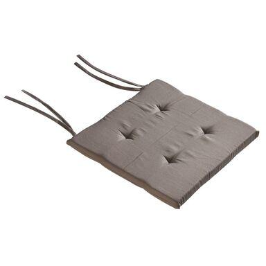 Poduszka na krzesło Elema brązowa 40 x 40 x 2 cm Inspire