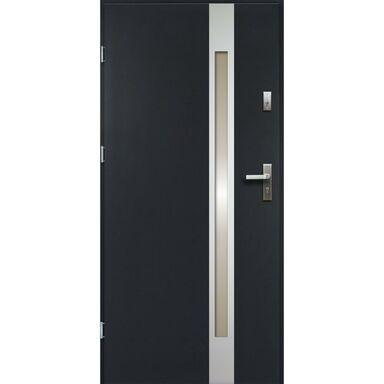 Drzwi zewnętrzne stalowe TEMIDAS Antracyt 80 Lewe